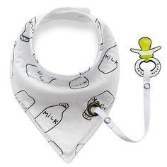 BIB WITH DUMMY CLIP 'MILK'     #MamaFashionMe - Aussie Online Store with Beautiful Accessories for Girls + Some for Boys