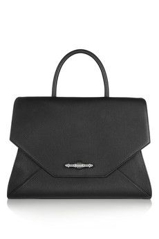 Givenchy Obsedia bag in black textured-leather   NET-A-PORTER
