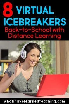 Middle School Icebreakers, Classroom Icebreakers, School Classroom, Google Classroom, Classroom Ideas, Virtual High School, Virtual Class, High School Ice Breakers, Kindergarten First Day
