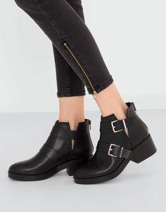 Pull&Bear - dames - schoenen - alles bekijken - opengewerkte enkellaars - zwart - 15025111-I2016