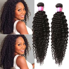 """Stylish 3Bundles 150g Human Hair Extension Curly Weft 16""""18""""20"""" Cute Curls Weave #wigiss #HairExtension"""
