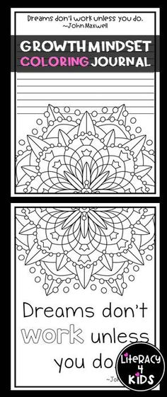Growth Mindset Coloring Journal