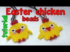 Цыпленок из бисера. Брелок./Chicken made from beads. Trinket. - YouTube