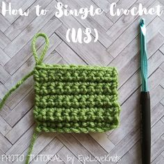 How to Single Crochet (US) – Photo Tutorial Double Crochet, Single Crochet, Easy Crochet, Beginner Crochet Tutorial, Crochet For Beginners, Different Stitches, Pull Through, Yarn Over, Photo Tutorial