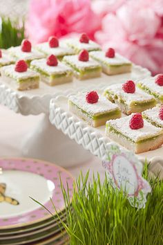 """Lime Bars with a Macadamia Nut Crust ... a very tasty recipe from this site, """"Heather Christo Cooks""""."""