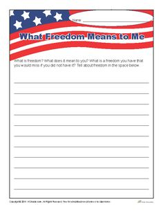 what freedom means to me speech for grade 3