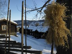 Per Gynt Gården at Vinstra in Gudbrandsdalen during winter