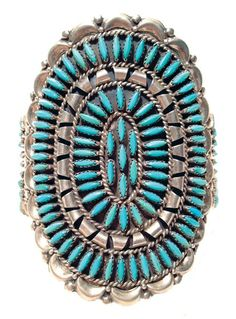 Zuni Turquoise Bracelet, unknown maker or  age.