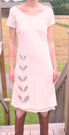 reverse applique dress