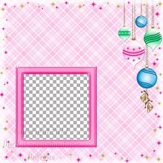 "Layout QP 2B-6 Pink.....Quick Page, Digital Scrapbooking, Christmas Time Collection, 12"" x 12"", 300 dpi, PNG File Format"