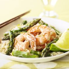 Green Curry Shrimp & Asparagus