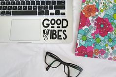 DISCOUNT code ANNABELLE20 on all Shay Butter Monograms Purchases  Good Vibes Laptop, Car Vinyl Decal Sticker, Good Vibes Only Hippie Decal, Macbook Decal, Peace and Love Quote Decal by ShayButterMonograms on Etsy https://www.etsy.com/listing/273683872/good-vibes-laptop-car-vinyl-decal
