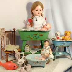 Now is the time to look for vintage and antique doll furniture at ShabbyGoesLucky's! Bears, dolls, stuffed animals, old toys - the child inside you loves to love!
