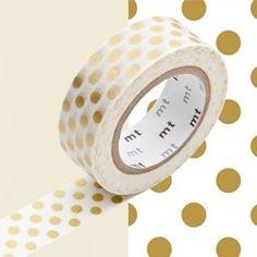 Masking tape - Dot gold