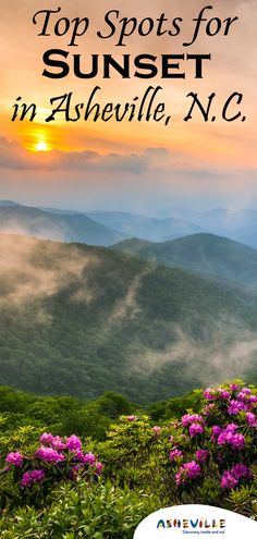 In an online poll, fans of Asheville, N. nominated their favorite places to watch the sun set over the Blue Ridge Mountains. Blue Ridge Mountains, Dream Vacations, Vacation Spots, Oh The Places You'll Go, Places To Visit, Best Sunset, Beautiful Places To Travel, Travel Usa, Travel Tips