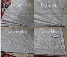 Universele mal voor rokjes maken - voor (cirkel)rokjes in verschillende maten + uitleg -  by MultiVroon