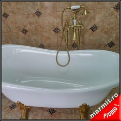 Baterie cada Revival culoare bronz cu montaj in pardosea Bathtub, Bathroom, Faucet, Standing Bath, Washroom, Bath Tub, Bathtubs, Bathrooms, Bath