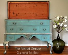 Painted French Cedar Chest