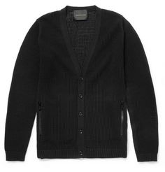 Undercover Knitted Cotton-Mesh Cardigan | MR PORTER