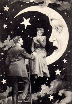 -couple on paper moon