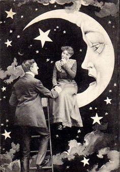 -paper moon postcard