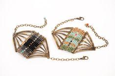 Woven Princess Fan Bracelet by AMiRAjewelry on Etsy