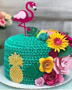 More decorating ideas on albums: Flamingo Party 1 Flamingo Party 3 Flamingo Party, Flamingo Cake, Flamingo Birthday, Hawaiian Birthday, Luau Birthday, Birthday Parties, Birthday Nails, Aloha Party, Luau Party