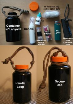 homemade fire starter kit | Fishing kit & Fire kit - Survivalist Forum