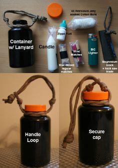 homemade fire starter kit   Fishing kit & Fire kit - Survivalist Forum