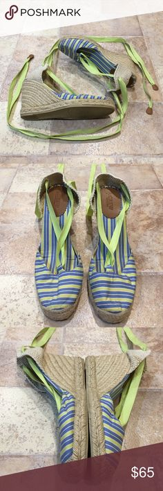 | J. Crew | Lace Up Stripped Espadrilles Wedges Brand new condition. Only worn out one time. Wear is only on the bottom of the shoe. Super adorable! No trades! J. Crew Shoes Espadrilles