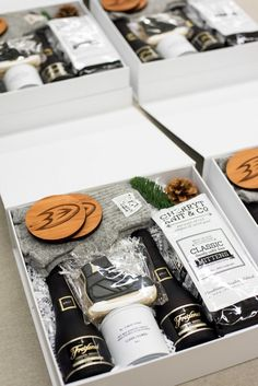 Award-winning custom client gifts and client appreciation gift boxes. Start designing your custom gift today with Marigold & Grey. Anaheim Ducks, Corporate Gifts, Corporate Events, Hygge, Gift Box Design, Curated Gift Boxes, Client Gifts, Appreciation Gifts, Customer Appreciation