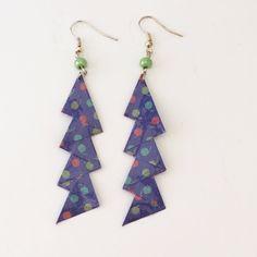 Boucles d'oreilles zigzag en papier origami de la boutique LatelierdIsabo sur Etsy