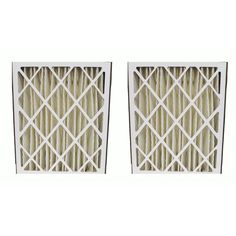 2 Pleated HVAC Filters for Skuttle and Trion Systems, MERV-8 Rating