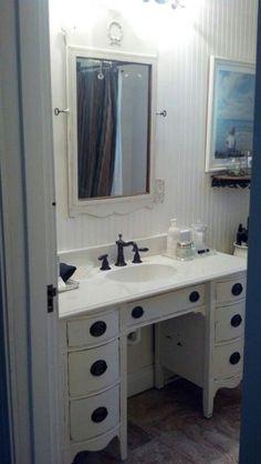 How to Turn a Dresser Into a Bathroom