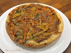 Tatin de légumes Desserts Français, Lolo, Vegetable Pizza, Fondant, Vegetables, Quiche, Al Dente, Pies, Salty Tart