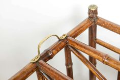 Rare 19th Century English Bamboo Canterbury   From a unique collection of antique and modern magazine racks and stands at https://www.1stdibs.com/furniture/more-furniture-collectibles/magazine-racks-stands/