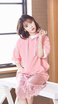 elebrity addresses free for Fan mail ccontacting celebrities and receiving free celebrity autographs and photos in the mail! Iu Short Hair, Short Hair Styles, Kpop Girl Groups, Kpop Girls, Korean Celebrities, Celebs, Iu Fashion, Korean Actresses, Beautiful Actresses