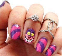 Nailart pictures purple pink stripes face paint ideas
