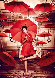 Love the red umbrella paintings.   This is my favorite!