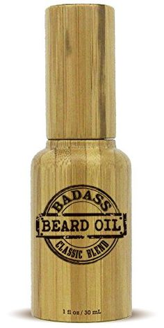 Beard Oil Conditioner 1oz by Badass Beard Oil - 100% All Natural Beard Softener Formula For Beard Grooming And Beard Care, Convenient Pump Top For Easy Beard Maintenance, Best In Beard Grooming Products - Specially Priced, Limited Supply