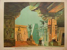 Schreiber -Egyptian Temple background