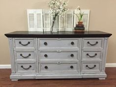 SOLD - Beautiful Paris Grey Dresser by Drexel