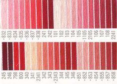 コスモ刺繍糸 刺しゅう糸#25番糸 赤系