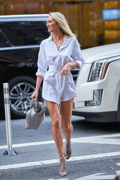 Candice Swanepoel at the Vicotria's Secret fitting in New York