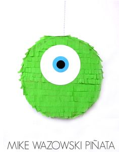 Nothing screams #MonstersUniversity party like a Mike Wazowski Piñata!