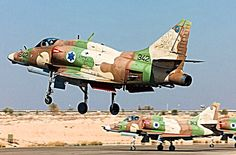 An Israeli Air Force McDonnell-Douglas A-4N Skyhawk ll comes in to land.