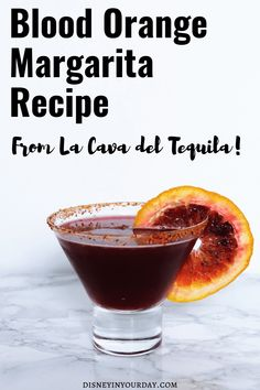 If you're looking for a delicious cocktail, try this blood orange recipe from La Cava del Tequila in the Mexico pavilion of Disney's Epcot! #disneydrinks #margaritas #margaritarecipe #bloodorange #bloodorangemargarita #lacavadeltequila #epcot #disneyrecipes Disney Cocktails, Fun Cocktails, Cocktail Drinks, Cocktail Recipes, Drink Recipes, Whole Food Recipes, Disney Diy, Disney Food, Disney Parks