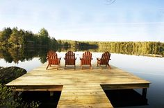 big dock on a lake Lake Dock, Boat Dock, Outdoor Spaces, Outdoor Living, Outdoor Decor, Farm Pond, Seneca Lake, Yacht Builders, Lake Cottage