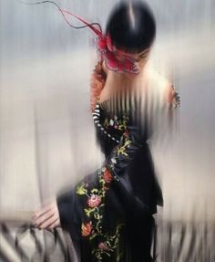 Isabella Blow: Fashion Galore! (Book Preview) - Liberty Ross wearing hat by Philip Treacy and dress by Alexander McQueen. Photographed by Nick Knight.