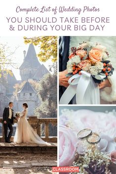 Don't want to miss a moment of the bride and groom on their wedding day? This photography checklist will help you from getting ready all the way through to the reception and grand exit. #colesclassroom #bride #photographytips #weddingchecklist Wedding Photo Checklist, Wedding Photo List, Wedding Photography Checklist, Creative Shot, Groom Getting Ready, Groom And Groomsmen, Wedding Pictures, Reception, Wedding Day